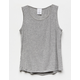 DESTINED Ribbed Heather Gray Girls Tank Top