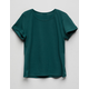 DESTINED Ribbed Green Girls Tee