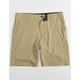 NITROUS BLACK Format Khaki Mens Hybrid Shorts