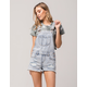 VANILLA STAR Acid Wash Womens Ripped Shortalls