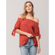 ROXY Caribbean Mood Womens Off The Shoulder Top