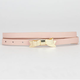 Skinny Faux Leather Bow Buckle Belt