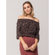 IVY & MAIN Floral Womens Off The Shoulder Top