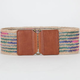 Multi Stripe Woven Stretch Belt
