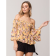 SKY AND SPARROW Smock Womens Off The Shoulder Top