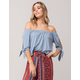 SKY AND SPARROW Womens Off The Shoulder Top