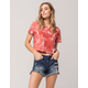 SKY AND SPARROW Cutoff Womens Ripped Denim Shorts