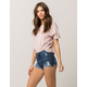 RSQ Sunset High Rise Womens Ripped Denim Shorts
