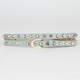 Dome Stud Skinny Faux Leather Belt