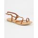 DEL MAR Braided Cross Strap Tan Womens Sandals
