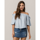 BILLABONG Blues Baby Womens Off The Shoulder Top