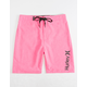 HURLEY Heathered One & Only Hot Pink Boys Boardshorts