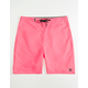 HURLEY One And Only Hot Pink Mens Boardshorts