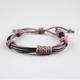 BLUE CROWN Faux Leather Cord Bracelet