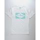 BILLABONG Formula 73 White Mens T-Shirt