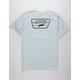 VANS Full Patch Light Blue Mens T-Shirt