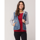 SKY AND SPARROW Fleece Sleeve Womens Denim Jacket