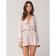 IVY & MAIN Bow Front Womens Romper