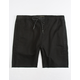 CRASH Twill Black Mens Jogger Shorts