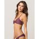 FULL TILT Reversible Plum Bralette Bikini Top