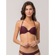FULL TILT Underwire Burgundy Halter Bikini Top