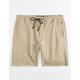CRASH Twill Khaki Mens Jogger Shorts