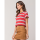 FULL TILT Stripe Womens Ringer Tee