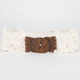 Wood Buckle Stretch Belt