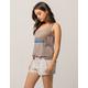 ALMOST FAMOUS Premium Stripe Womens Linen Shorts