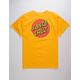 SANTA CRUZ Classic Dot Yellow Mens T-Shirt