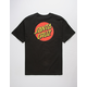 SANTA CRUZ Classic Dot Black Mens T-Shirt
