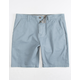 CHARLES AND A HALF Lincoln Stretch Crystal Blue Mens Shorts