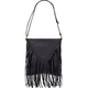 Faux Leather Triangle Flap Handbag