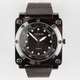 Square Face Mesh Strap Watch
