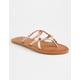 GIGI Criss Cross Rose Womens Sandals