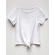 FULL TILT Essentials Tie Front White Girls Tee