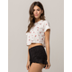 FULL TILT Cherry Womens Boxy Crop Tee