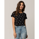 FULL TILT Cactus Womens Boxy Crop Tee