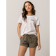CELEBRITY PINK Twill Womens Shorts