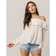 COCO & JAIMESON Off The Shoulder Womens Top