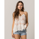 COCO & JAIMESON Floral Embroidered Womens Top