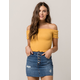 FULL TILT Essentials Smocked Mustard Womens Top