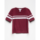 FULL TILT Horizontal Varsity Stripe Girls Tee