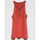 FULL TILT Rust Lace Up Girls Tank
