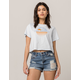 MIMI CHICA Los Angeles Womens Crop Tee