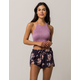 IVY & MAIN Floral Wrap Womens Dolphin Shorts