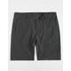 NITROUS BLACK Format Black Mens Hybrid Shorts