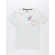 HURLEY Overgrown Boys Pocket Tee
