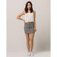 IVY & MAIN Gingham Mini Skirt