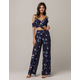 IVY & MAIN Floral Womens Cold Shoulder Top And Pant Set